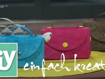 Minitasche aus Lederpapier | DIY einfach kreativ