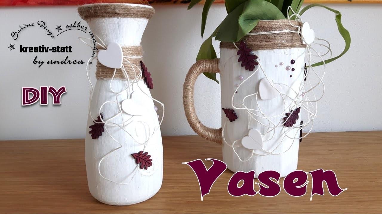 Diy Deko Basteln Vasen Im Kreide Look Aus Kerzenwachs