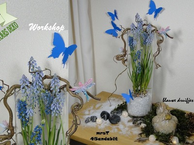 DIY:Frühlings deko - Osterdeko Muscari im Glas I voorjaarsbloemschikken I Easter deko mrsT45andabit