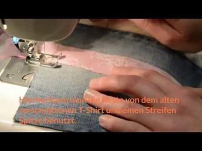 DIY - Upcycling, Video Teil 5: Smartphone-, Handy Tasche aus gebrauchter Jeans selbst nähen.