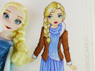 ELSA IM TOPMODEL MALBUCH | Disney Frozen Ice Queen HOW TO DRAW TUTORIAL