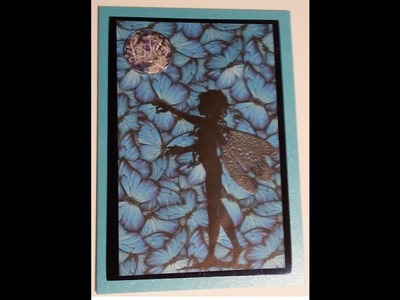 [ How To, Tutorial, Anleitung, Watch me Craft] Schmetterling Feenkarte Butterfly fairy card #4