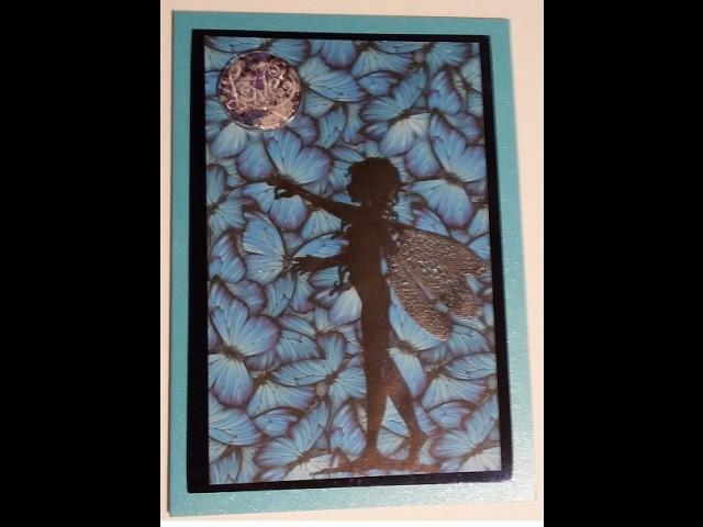 [ How To, Tutorial, Anleitung, Watch me Craft] Schmetterling Feenkarte Butterfly fairy card #4