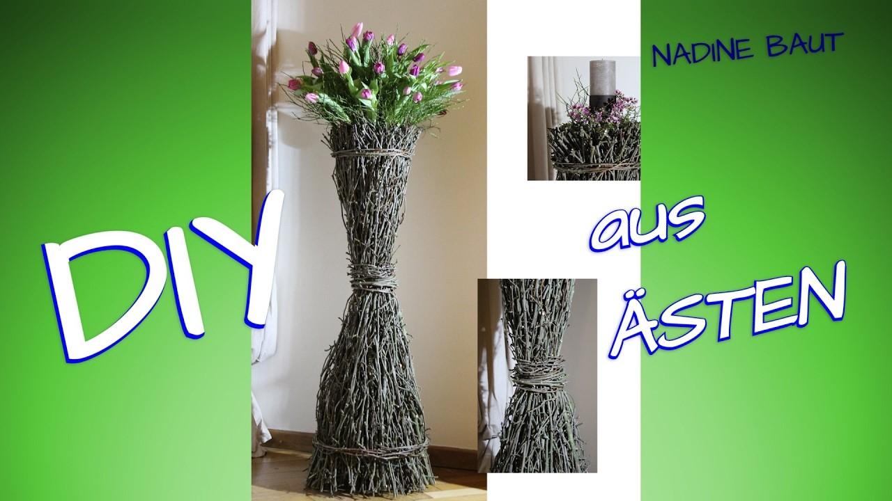 DIY - Blumenvase - Blumentopf - Kerzenständer