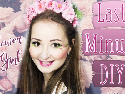 DIY Flower Girl - Blumenkranz und Make-Up Look Last Minute⎜KrishiKarneval