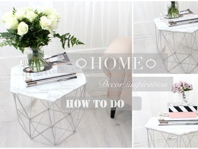 DIY Home Decor - Inspiration Marmor Tisch