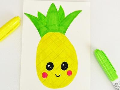 DIY KAWAII ANANAS zeichnen | süße Frucht macht Lust auf Sommer