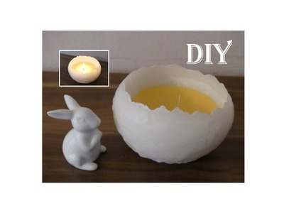 DIY: Kerzen für Ostern basteln. make your own Easter candles