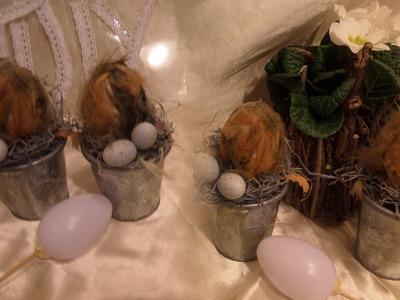 DIY: OSTER DEKO basteln  - Einsteck EI, Stab Ei für Gestecke,Blumen,. Bastel Tipp DIY kekaplauderei