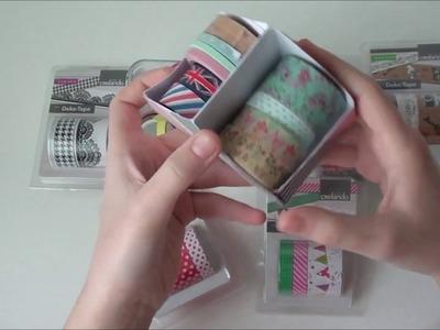 DIY Washi Tape-Aufbewahrung basteln