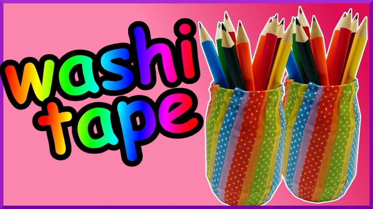 DIY washi tape challenge | Stifteköcher | Stifteglas | Pencil pot | storage organizer