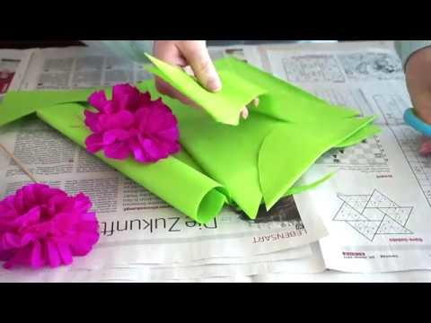 pfingstrosen aus seidenpapier diy blumen einfach und leicht. Black Bedroom Furniture Sets. Home Design Ideas