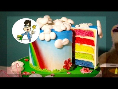 Rainbow Cake. Hidden Design