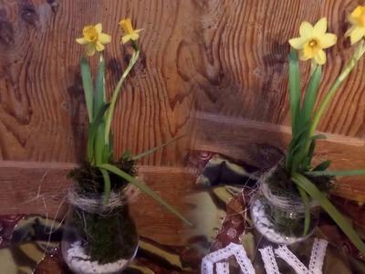 DIY: BLUMEN-Werkstatt, SCHNELLE Frühling und Oster DEKO  selber machen,UPSYCLING im Glas