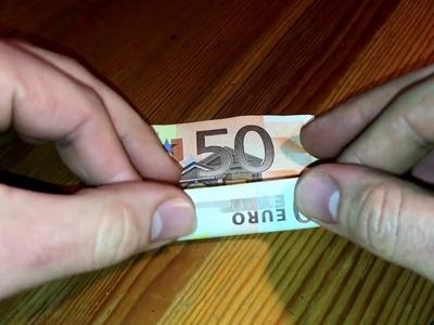 Geldgeschenk falten Schweinchen aus Geld falten Origami Anleitung how to fold money origami cute pig