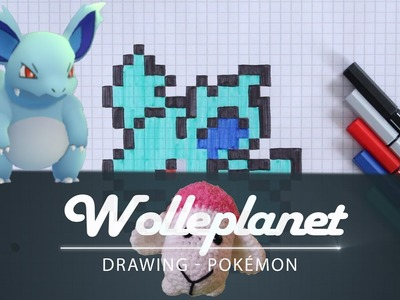 Pixel Art Pokemon Nidorina Drawing