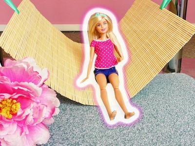 Barbie Hängematte selber machen | Einfaches DIY für Puppen | Gemütliches Bett  in 5 Minuten