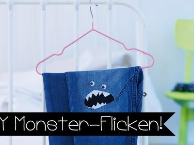 DIY | BASTELN MIT KINDERN I MONSTER-FLICKEN | HOSE FLICKEN