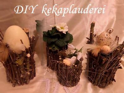 DIY:BLUMEN-Werkstatt 4 Frühlings+Oster DEKO-Ideen in Blechdosen+Holz SELBER MACHEN Upsycling, How-to