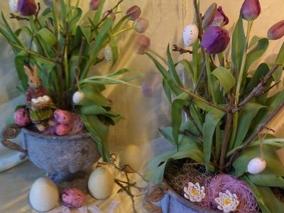 DIY: Blumen-Werkstatt, Shabby chic Frühlings+Oster DEKO SELBER MACHEN,. Upsycling ,How-to