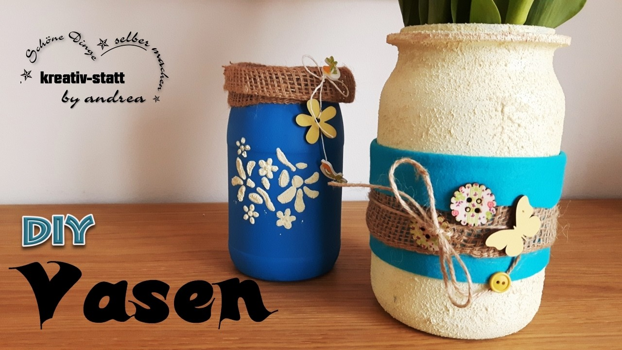 diy deko vasen aus einmach oder konservengl ser schnell und einfach. Black Bedroom Furniture Sets. Home Design Ideas