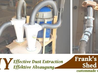 ☡ DIY effective dust collection system - Effektive Absauganlage. Zyklonabscheider selber bauen