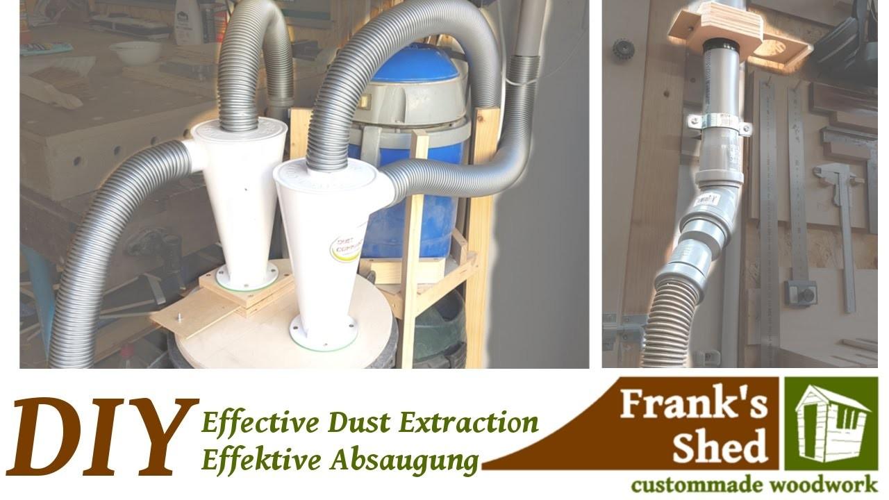 diy effective dust collection system effektive absauganlage zyklonabscheider selber bauen. Black Bedroom Furniture Sets. Home Design Ideas