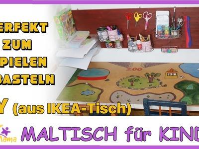 DIY SPIEL- & MALTISCH aus altem IKEA-Tisch. günstig. upcycling ikea. Täglich Mama