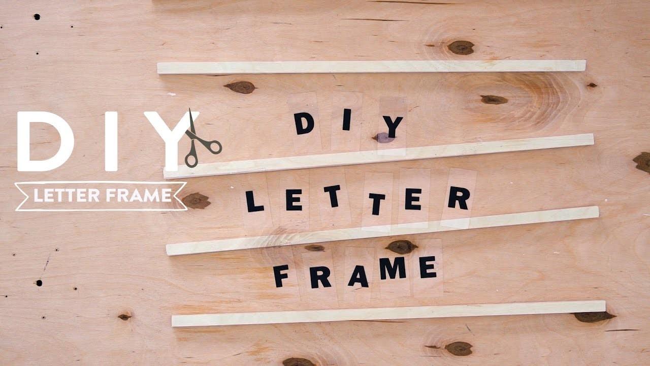 Letter Frame | WESTWING DIY-Tipps
