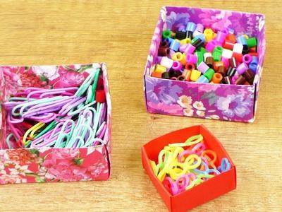 Aufbewahrung falten | Einfach Origami Anleitung für Kinder | DIY Idee Box basteln | Blumen
