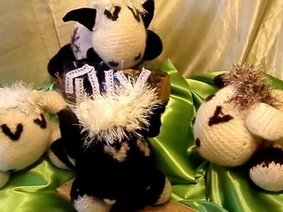 DIY:Kuschel-Tier SCHÄFCHEN stricken, mit und ohne FILZ-Wolle-SELBER MACHEN-How-to , Sooo SÜSS