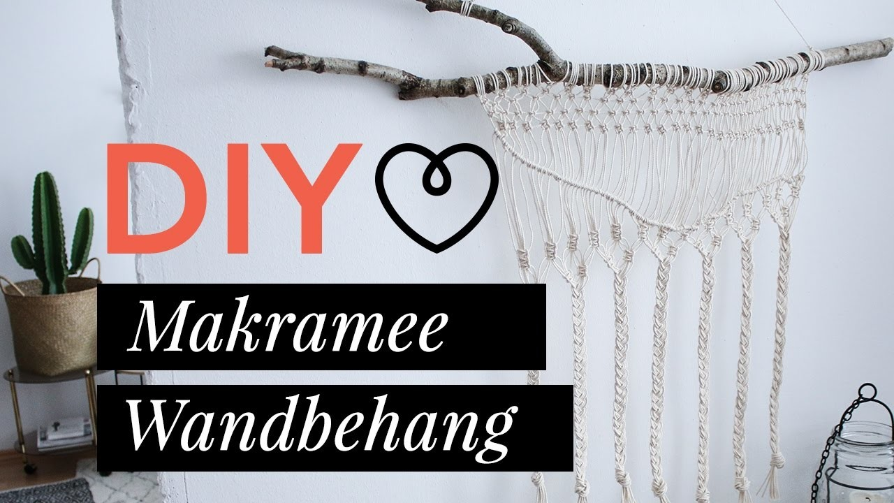 Diy tutorial makramee wandbehang wohnklamotte - Makramee wandbehang ...