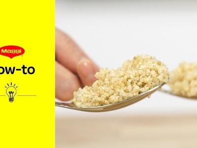 How-To: Quinoa kochen   MAGGI Kochstudio