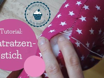Matratzenstich Anleitung | Ladder stitch Tutorial | Leiterstich | DIY Nähanleitung | mommymade