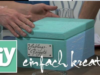 Rezepte-Box für Kochrezepte | DIY einfach kreativ