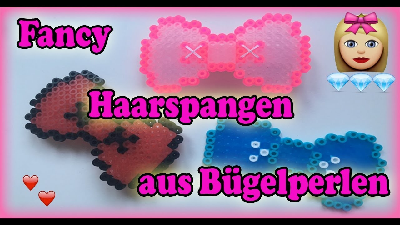 schmuck aus b gelperlen selber machen haarspange mit schleife diy. Black Bedroom Furniture Sets. Home Design Ideas
