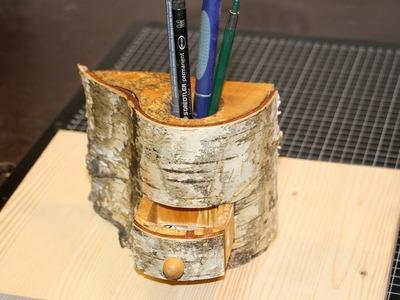 Bandsäge - Stiftehalter mit Schublade. Bandsaw box - diy