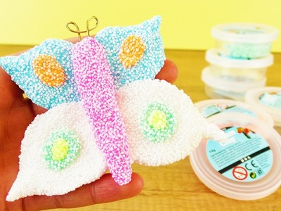 DIY Deko fürs Zimmer | FRÜHLINGS Schmetterling aus Foam Clay | Ideen mit Wolkenschleim |Kids Club