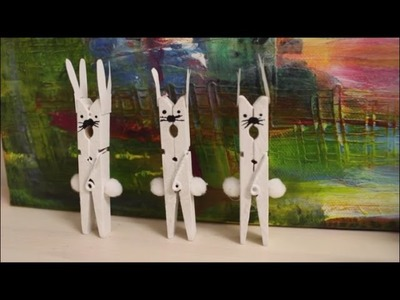 DIY: Osterdeko selber machen: Küssende Hasen aus Wäscheklammern