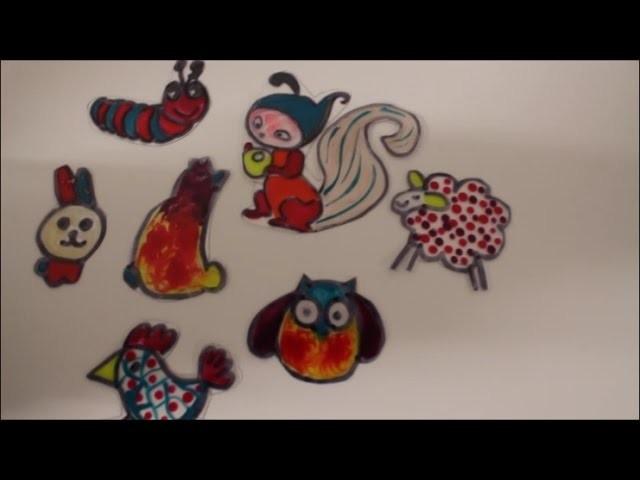 DIY:  Tiere auf Folie selber machen. Upcycling. Frühlingsdeko. Osterdeko