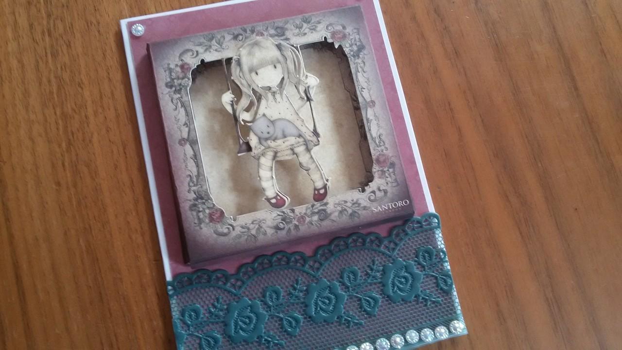 Gorjuss Week Card 2 | 3D Frame | DIY | Karten basteln | Basteln mit Papier | craft with paper
