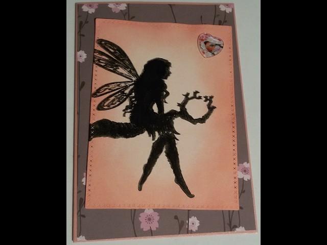 [ How To, Tutorial, Anleitung, Watch me Craft]  Feenkarte.fairy card #5