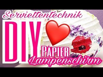 Serviettentechnik Lampe Lampion Paper Napkin Decoupage Technique Lamp