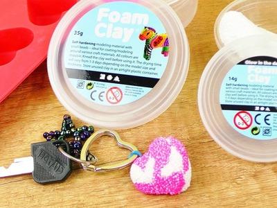 Wolkenschleim Schlüsselanhänger Herz | DIY Idee & Geschenk | Lechtet im Dunkeln