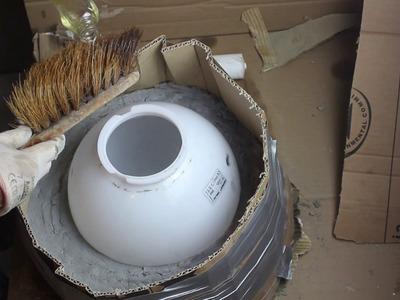 Dekokugeln,Selbst hergestellte Form zum Gießen von Betonkugeln- DIY Self-made form casting