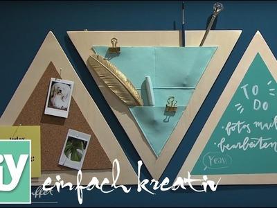 Dreiecks-Organizer mit Ledertasche | DIY einfach kreativ