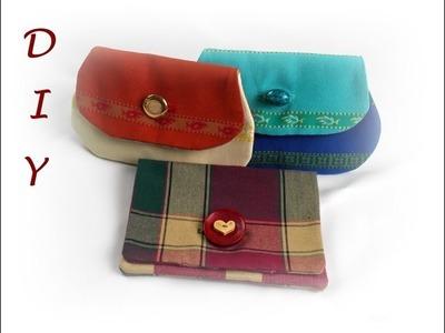 Käthes Nähstunde DIY Kleine Tasche in 2 Varianten z.B. als Schlüsseleui. Portemonnaie