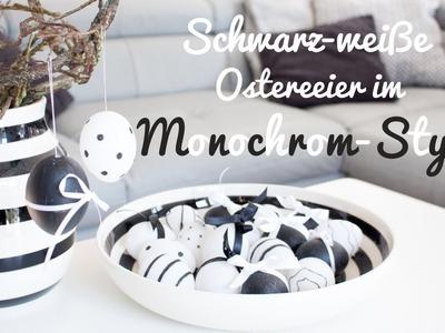 Ostereier basteln: Schwarz-weiße Oster-Dekoration im Monochrome-Look DIY | NOCH kreativ