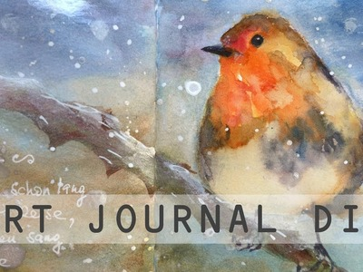 Art Journal DIY Mein Gartenjahr November