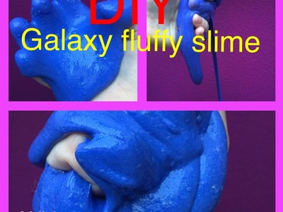 DIY fluffy Galaxy slime| satisfiyng slime| without borax,detergent, corn Starch,shampoo| Emi DIY ❤️
